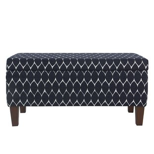 Highland Textured Upholstered Storage Bench Latitude Run