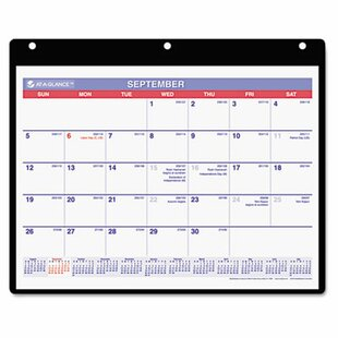 At-A-Glance Academic Monthly Desk Pad Calendar