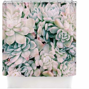 Succulent Blush Single Shower Curtain