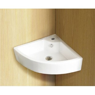 Purchase Ceramic 27 Wall Mount Bathroom Sink with Overflow ByRoyal Purple Bath Kitchen