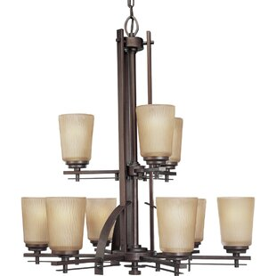Red Barrel Studio Arla 9-Light Shaded Chandelier