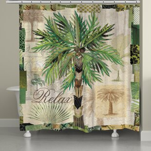 Laural Home Palm Scrapbook Shower Curtain
