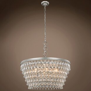 House of Hampton Fontayne Teardrop 6-Light Crystal Chandelier