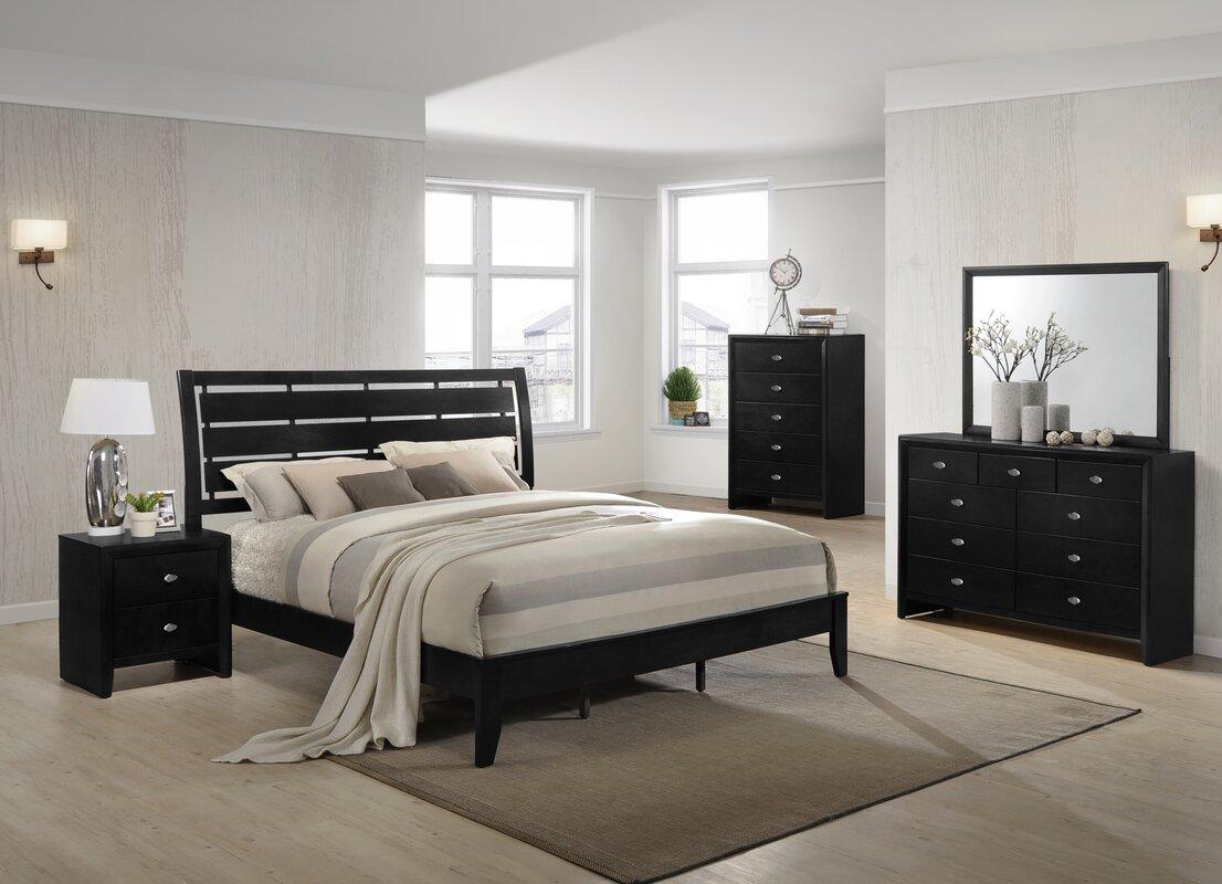 Gloria Platform 5 Piece Bedroom Set