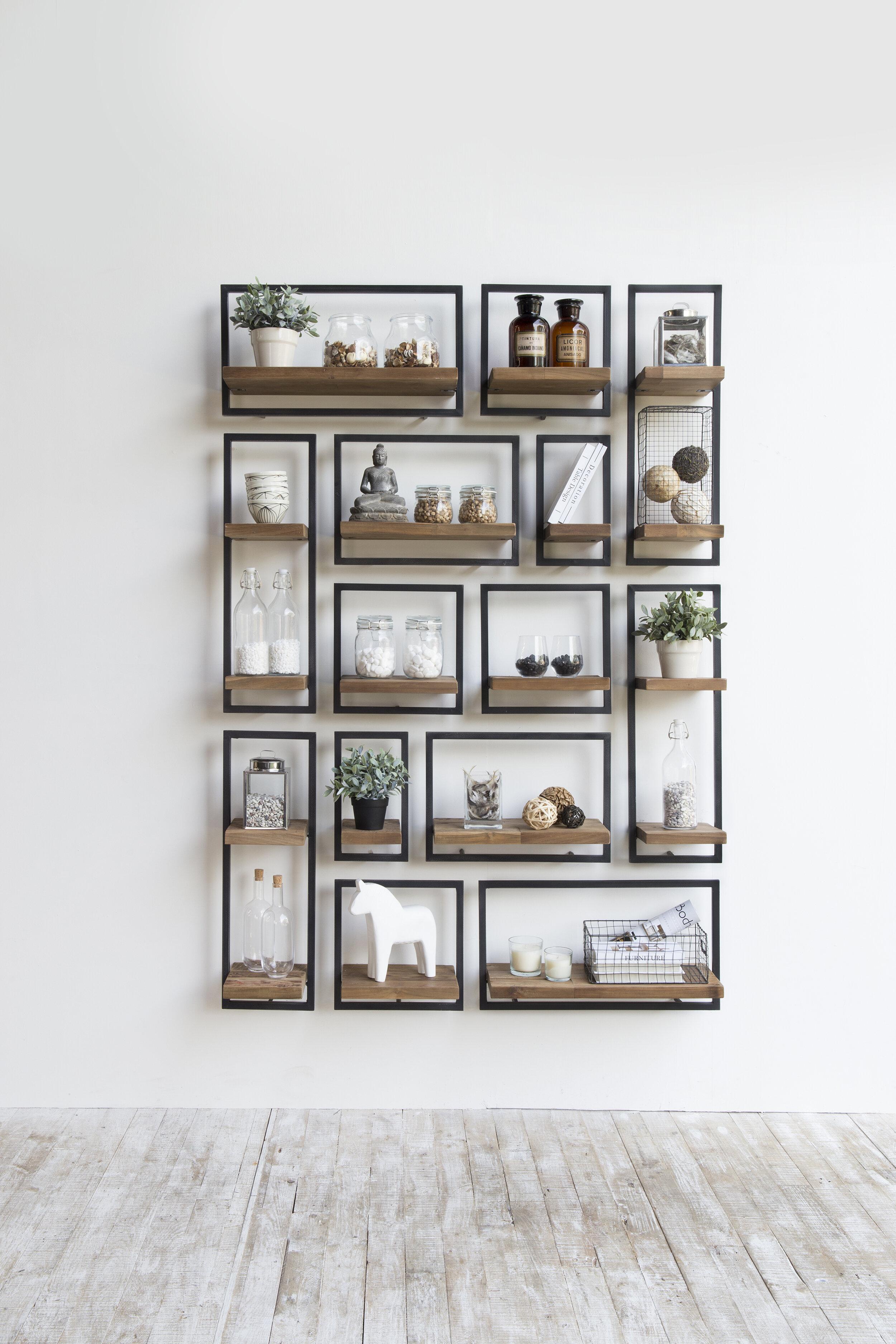 Union Rustic Langridge Metal Frame Wall Shelf Reviews Wayfair