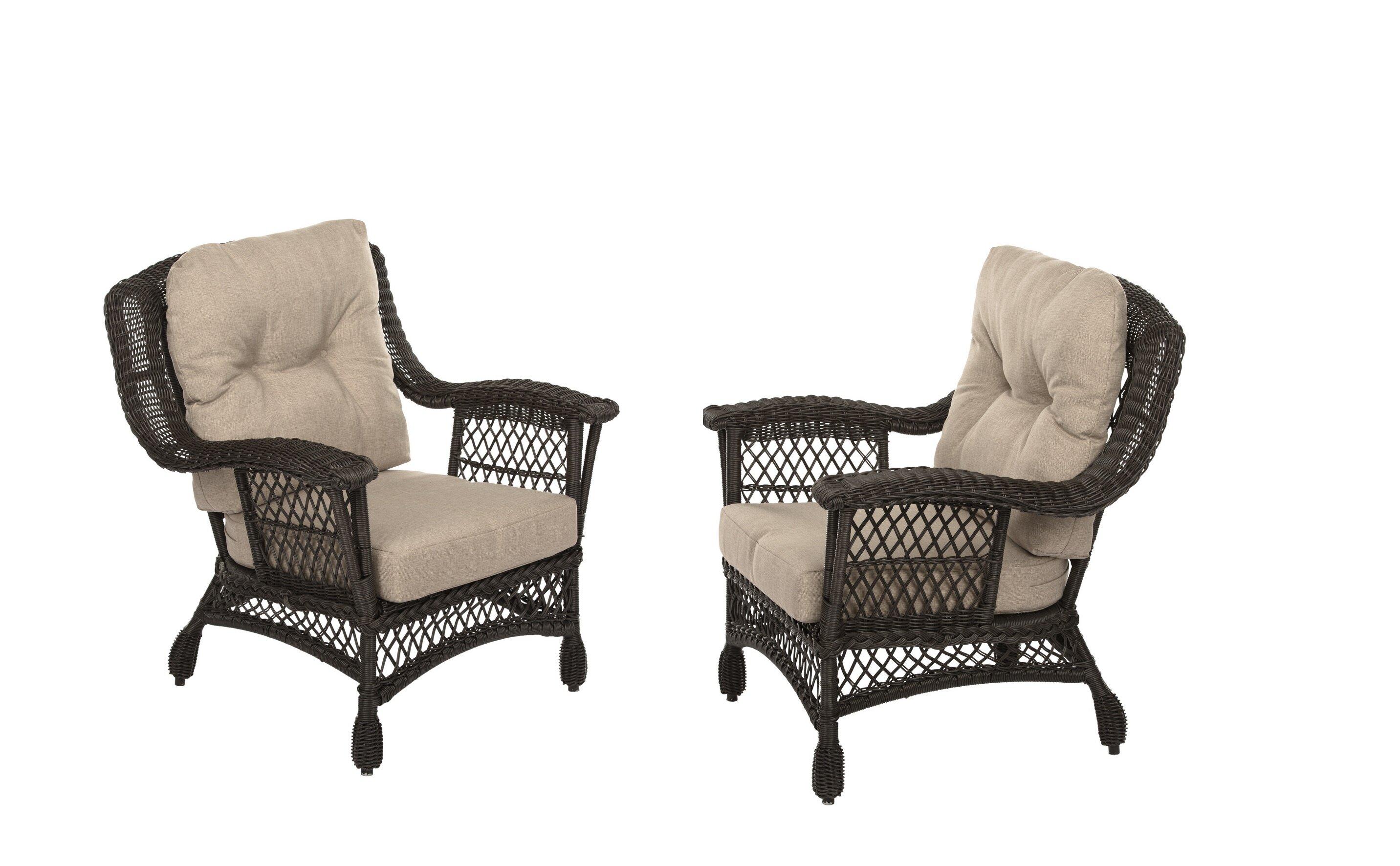 Demott Outdoor Garden Arm Chairs