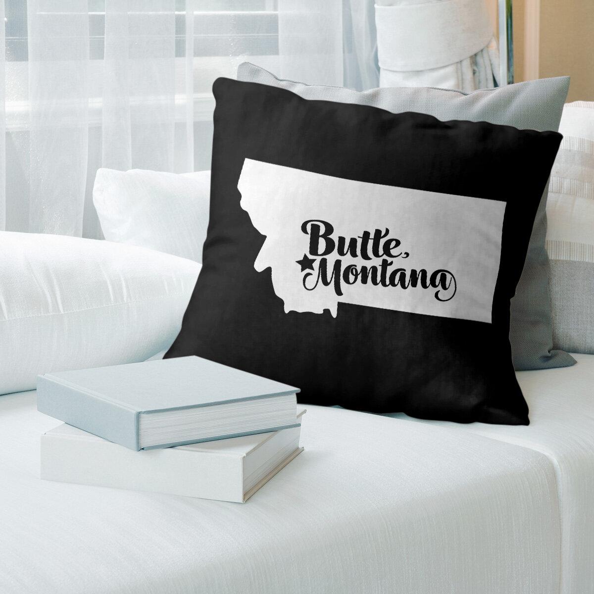 East Urban Home Butte Montana Pillow Wayfair