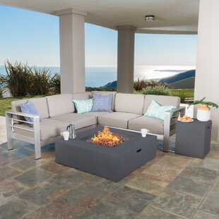 Durbin 5 Piece Sectional Set with Cushions
