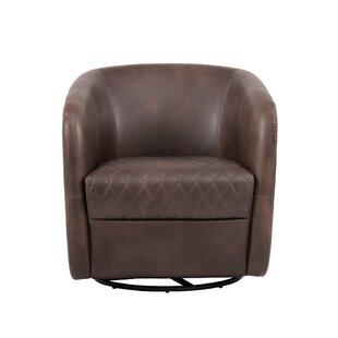 5West Swivel Barrel Chair by Sunpan Modern
