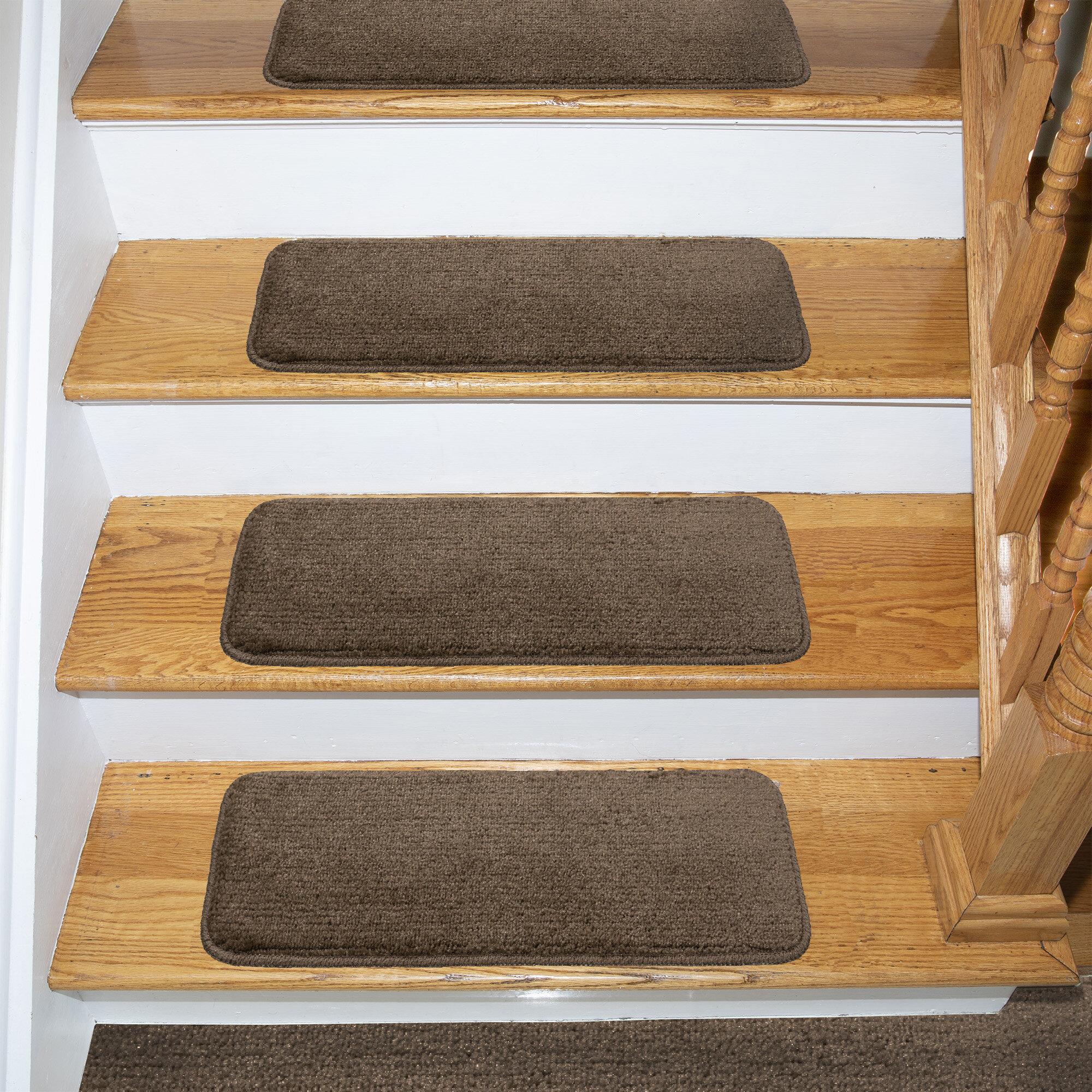 Image of: Tucker Murphy Pet Beattie Soft Solid Shag Carpet Stair Tread Reviews Wayfair