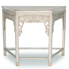 Replica Carving Wall End Table by Sarreid Ltd