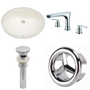 Big Save Ceramic Oval Undermount Bathroom Sink with Faucet and Overflow By American Imaginations