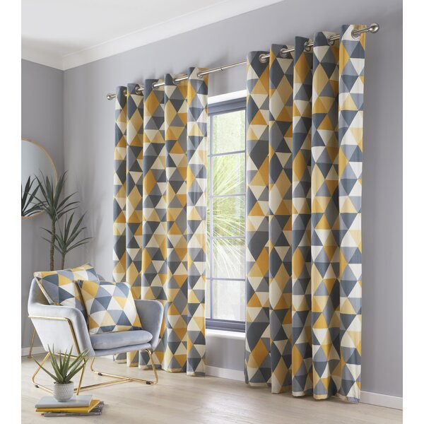 Grey And Mustard Curtains Wayfair Co Uk