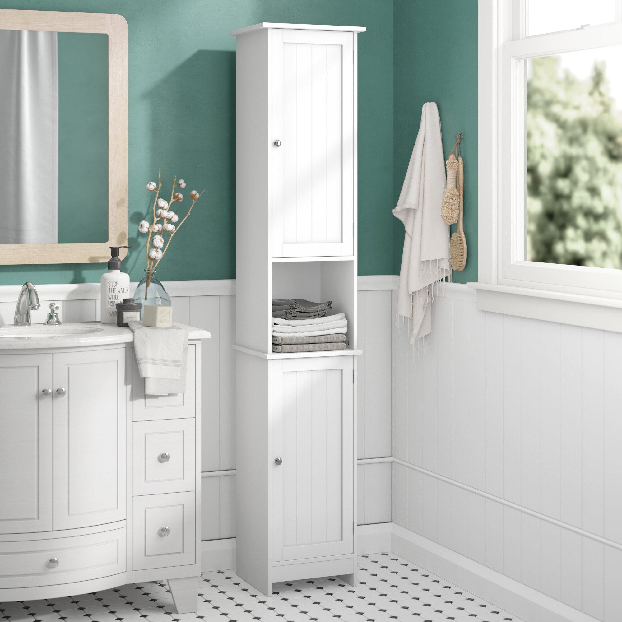 Wildon Home Vida Priano 32 x 170cm Free Standing Tall Bathroom Cabinet & Reviews | Wayfair.co.uk