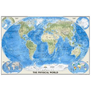Large world wall maps wayfair the physical world wall map gumiabroncs Choice Image