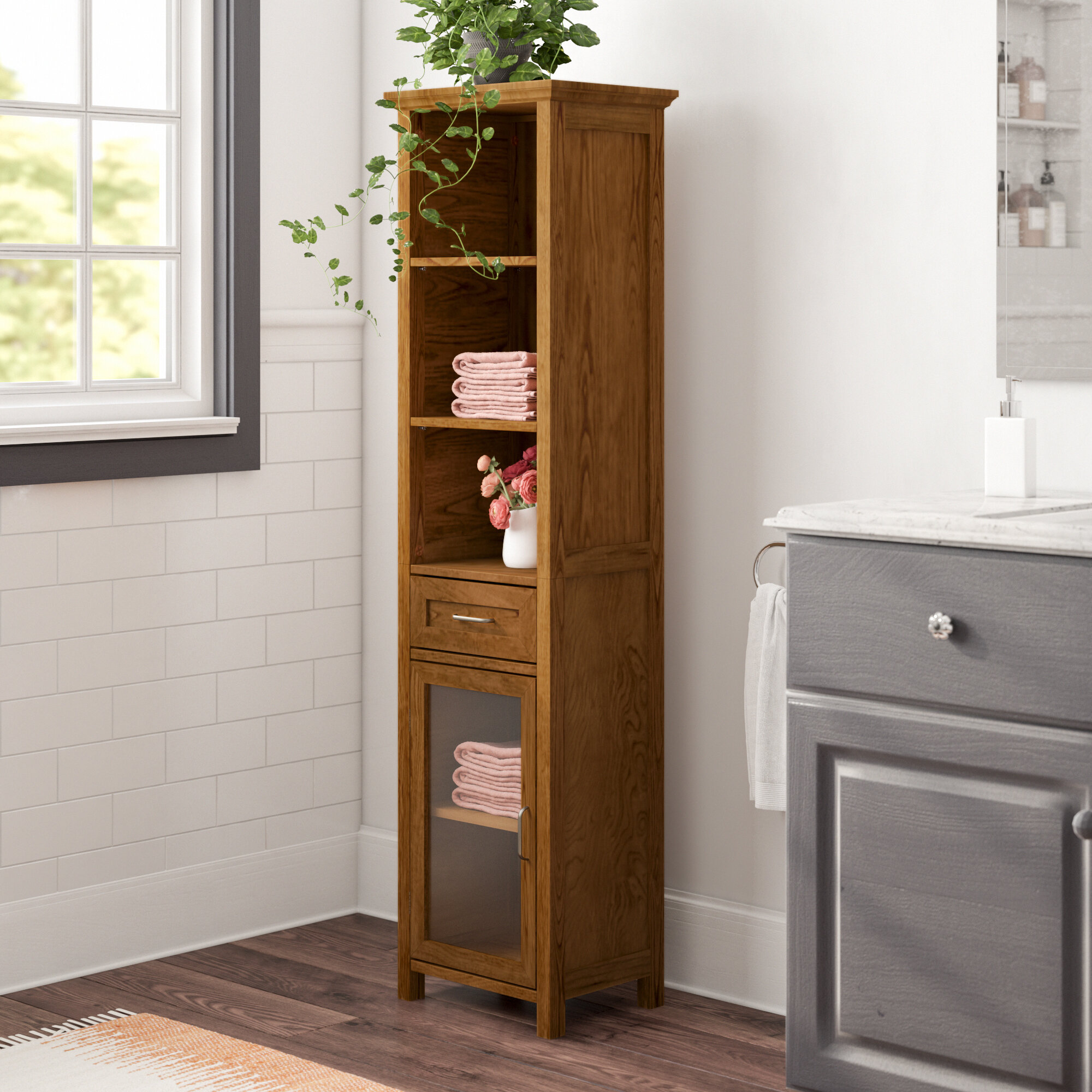 Linen Cabinets Towers You Ll Love In 2020 Wayfair