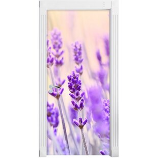 Lavender With A Retro Look Door Sticker By East Urban Home