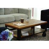 Gault Wheel Coffee Table with Storage by Loon Peak®