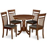 Dian 5 - Piece Solid Wood Breakfast Nook Dining Set by Alcott Hill®