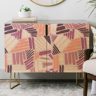Mareike Boehmer Dots and Lines Rose Credenza by East Urban Home