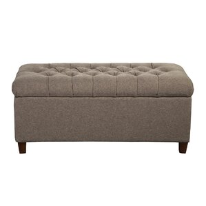 Halvorson Fabric Storage Bench by Andover Mills