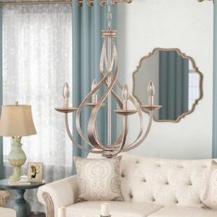 Lark Manor Emely 4-Light Candle Style Cha..