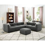 Lotte 118 Reversible Modular Sectional with Ottoman by Wrought Studio™