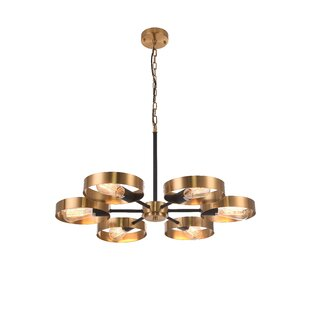 Yasmina 6-Light Wagon Wheel Chandelier by..