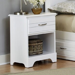 Della Wood 1 Drawer Nightstand by August Grove