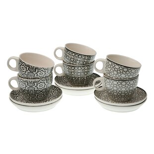 94e0b183f1 Fagan 6 Piece Teacup and Saucer Set