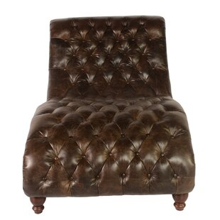 Cathay Leather Chaise Lounge by Lazzaro Leather