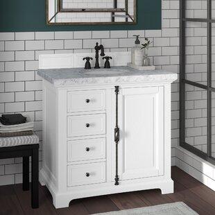 Searching for Ogallala 36 Single Ceramic Sink Cottage White Bathroom Vanity Set ByGreyleigh