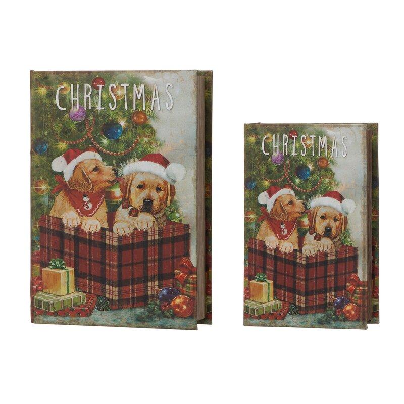 The Holiday Aisle 2 Piece Christmas Book Decorative Box Set Wayfair