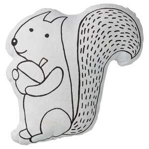 Squirrel with Acorn Cotton Throw Pillow