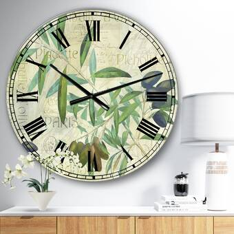 East Urban Home Oversized Moss And Dendrite Crystals Macro Wall Clock Wayfair