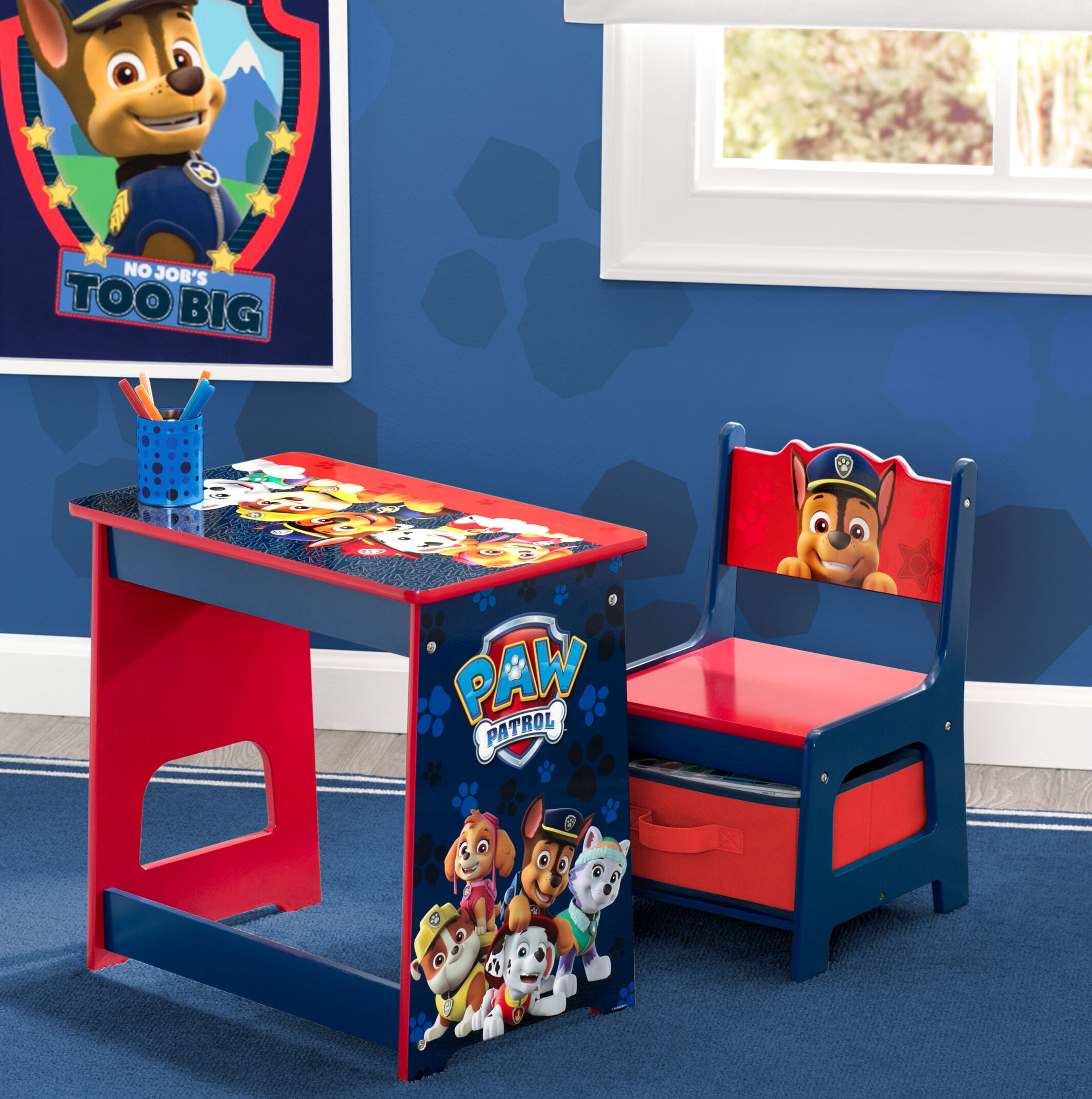 Nick Jr  PAW Patrol Kids 2 Piece Activity Table and Chair Set