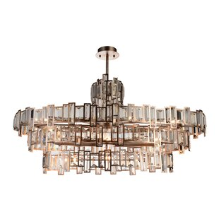 Rosdorf Park Colby 21-Light Crystal Chandelier