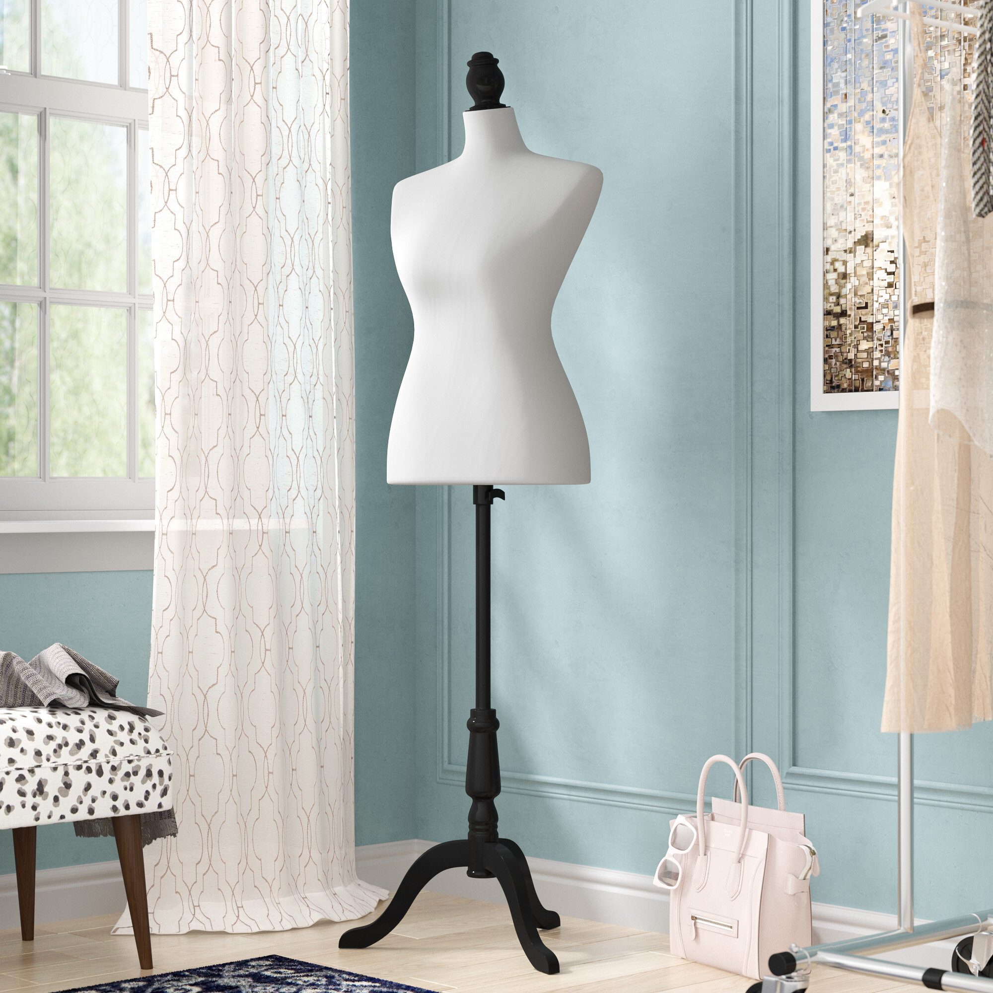 Rosdorf Park Fashion Mannequin Female Dress Form with Base | Wayfair