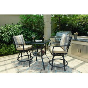 Zaina 3 Piece Bistro Set with Cushions