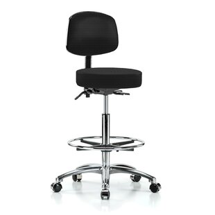 Height Adjustable Doctor Stool With Foot Ring by Perch Chairs & Stools Amazing