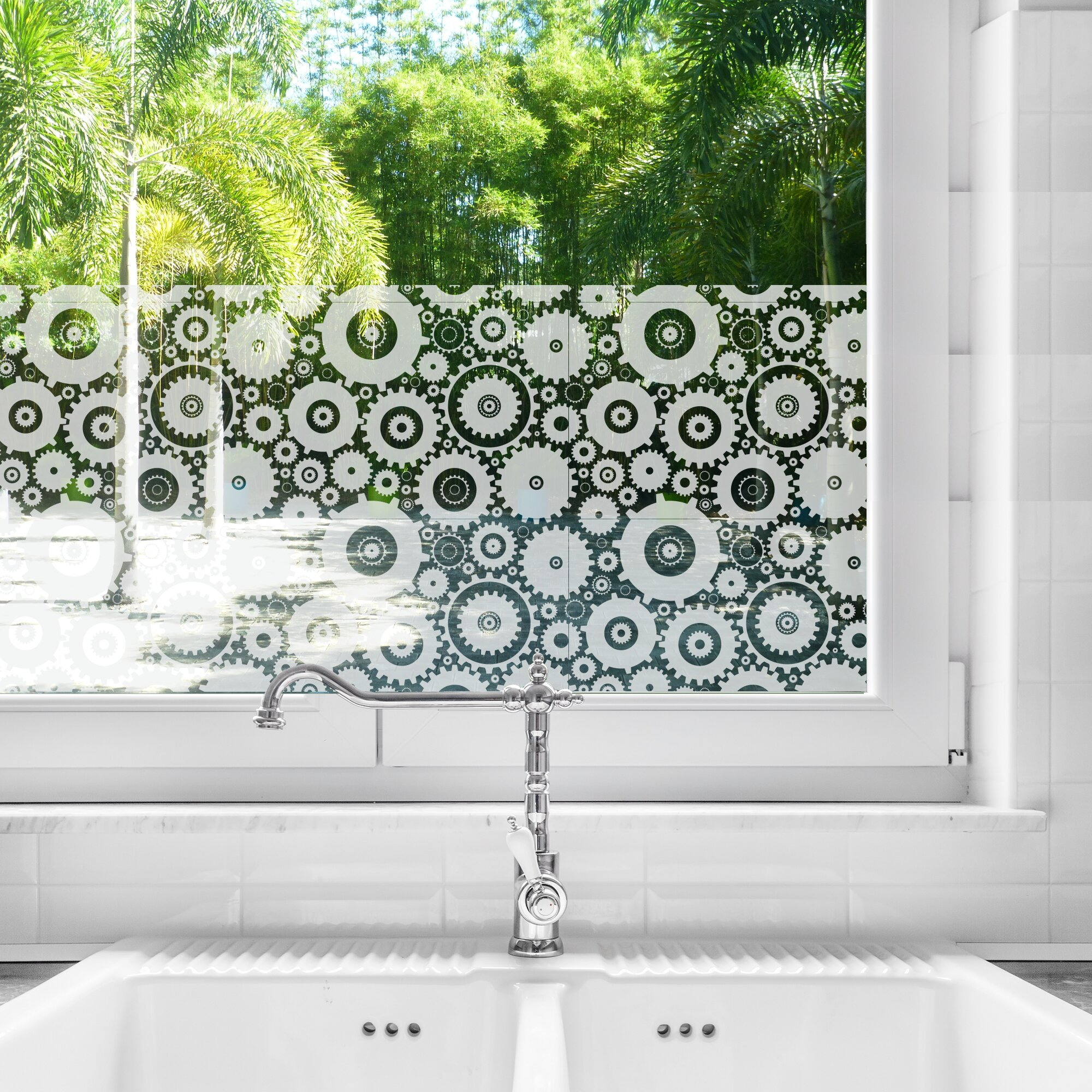 mirrors  etch design 5 set of 4 decorative stickers for window glass