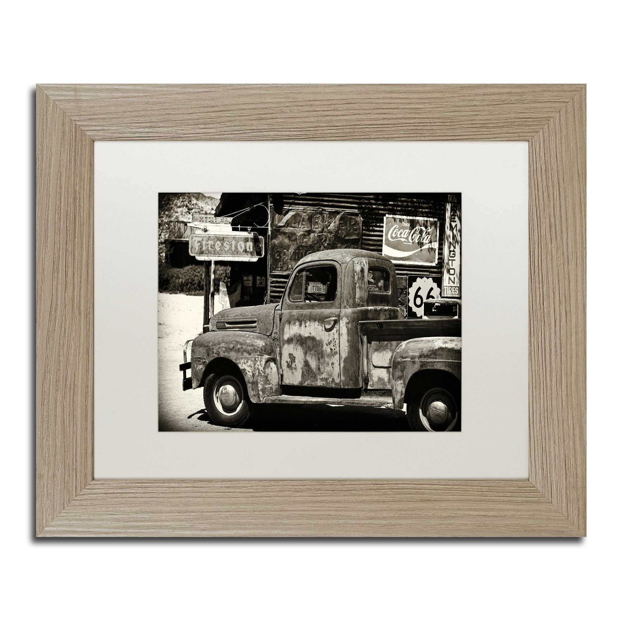 Trademark Art Us Truck Framed Photographic Print Wayfair