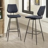 Maisha 30 Swivel Bar Stool (Set of 2) by Latitude Run