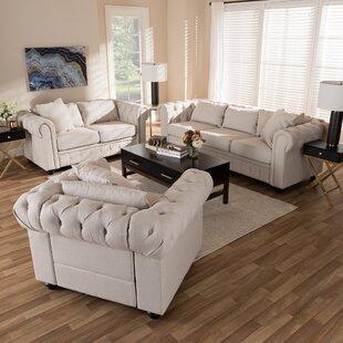 Smythe 3 Piece Living Room Set by Rosdorf Park