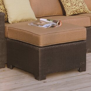 Alcott Hill Leonore Ottoman with Cushion
