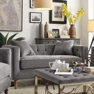 Croyd Chesterfield Loveseat by Everly Quinn Savings