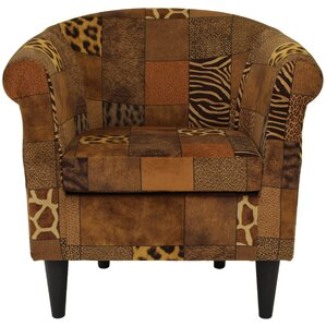 Ronda Traditional Animal Print Barrel Chair by Bloomsbury Market