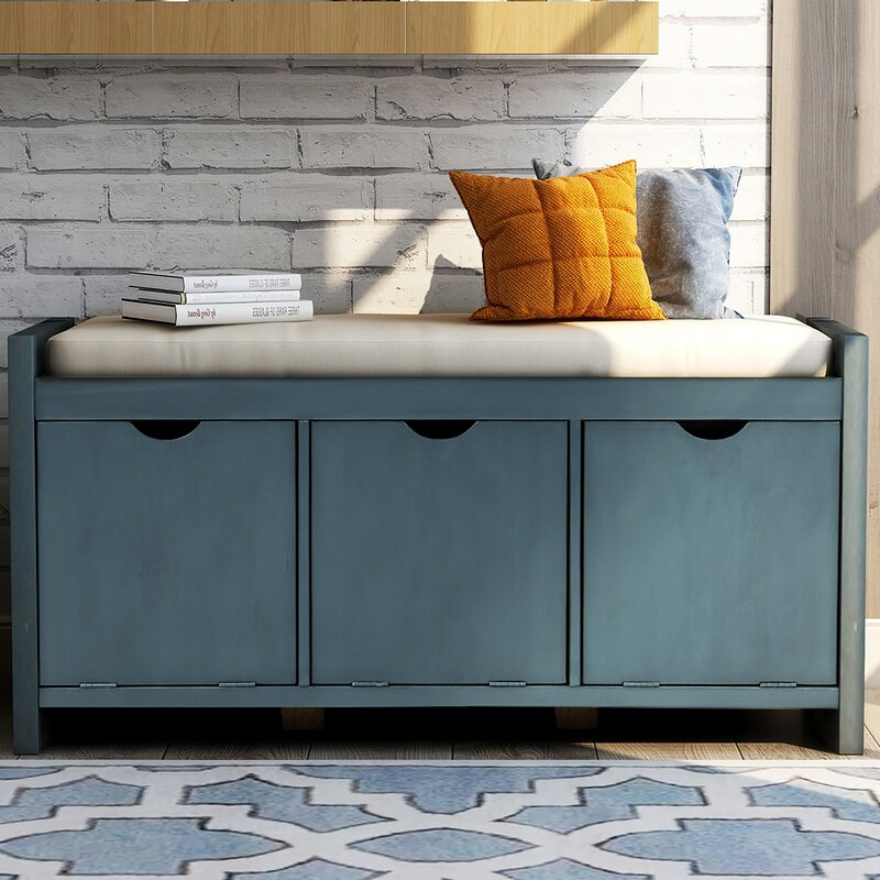 Longshore Tides Duquette Cabinet Storage Bench Reviews Wayfair
