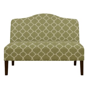 Heitmann Armless Arched Back Upholstered Loveseat