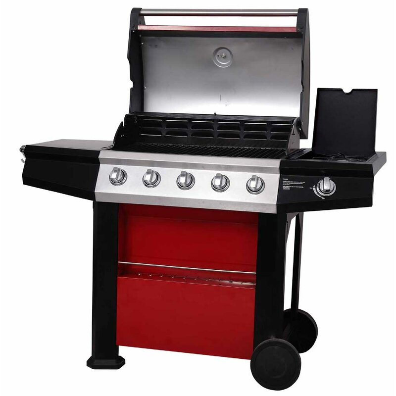 Mastercook Connoisseur Ultra Deluxe 5-Burner Portable Natural Gas ...
